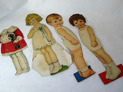 Vintage lot of 3 paper dolls, Joan, Bobby with one Stecher Lith Co.