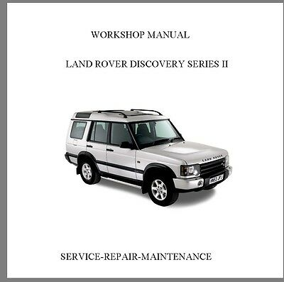 New 1999-2003 Land Rover Discovery Series Ii Official Workshop Service  Manual