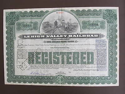 Lehigh Valley , Railroad Company $1000 Mortage Gold Bond, See Scan
