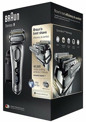 Braun Series 9 9290cc Men's Electric Foil Shaver, Wet&Dry,Clean&Charge Station