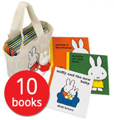 Miffy Collection in a bag with Plush Toy - 10 Books