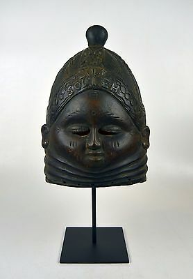 Important Mende Bundu African Mask with Family Name & Date of Ceremony