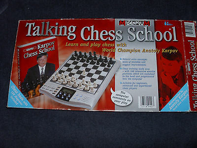 Millenium Talking Chess Computer - Anatoly Karpov All Complete With Instructions