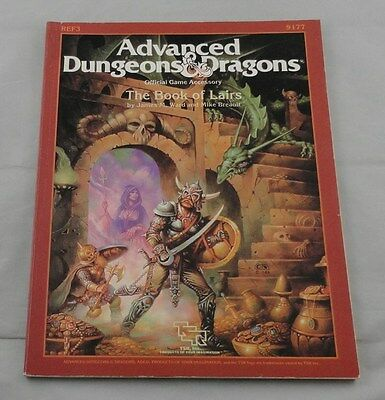 Advanced Dungeons & Dragons - The Book of Lairs TSR9177 AD&D 1986