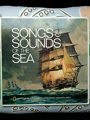 songs and sounds of the sea - National Geographic Library Music 1973 LP