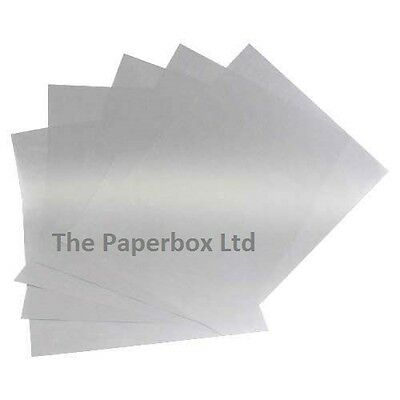 50 x A4 Translucent Vellum Paper, Silver Shimmer