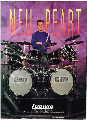 Ludwig Drums - Neil Peart of Rush - 1990 Print Advertisement