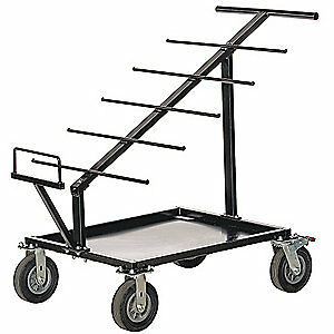 GRAINGER APPROVED Steel Wire Cart,1000 Lb Capacity, WW-535, Black
