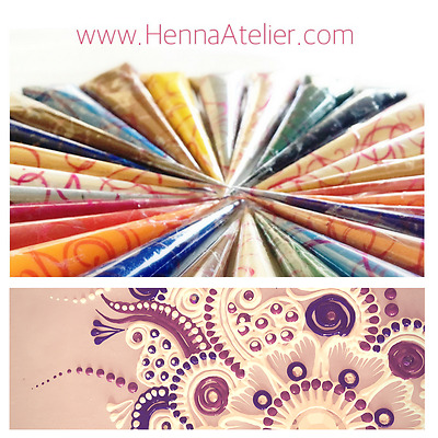 5 X Acrylic Paint Henna Cones Mehndi Pre-filled ✓Easy To Use ✓HIGHEST QUALITY