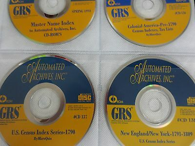 Genealogy- 25 CD's Heritage Quest  GRS NEW YORK -NEW ENGLAND- 1790 -1900  CENSUS