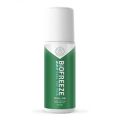 Biofreeze 1 x 3oz Roll On Pain Relief Gel Cold Arthritis Therapy Pack of 5