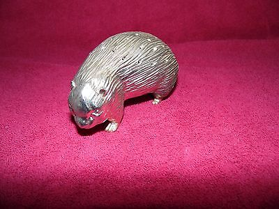 Porcupine Toothpick Holder- silver plated