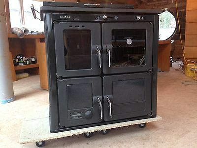 LINCAR Ilaria 703t-g Solid Fuel Range Cooker with boiler 27kw Wood