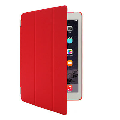 New Red Smart Stand Magnetic Leather Cases Covers for Apple iPad 6 air 2