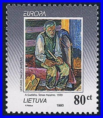 LITHUANIA 1993 EUROPA-CEPT / PAINTINGS mnh (K-LM-DEC)