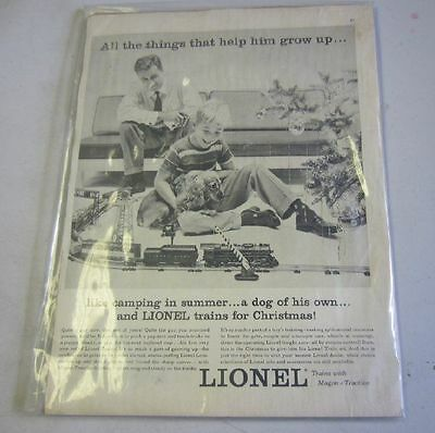 Lionel Ad for Trains with Magne Traction Vintage Life Magazine