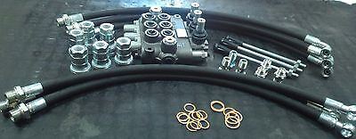 """Hydraulic Distributor Three Levers Double Effect 3/8"""" 40Lt+Pipes+Quick Couplings"""