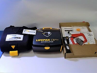 Physio Control Lifepak CR Plus Fully Auto Case New Battery Pads