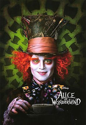 Alice in Wonderland (2010) Reproduction Movie Poster - Johnny Depp, Mad Hatter