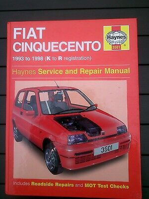 Fiat cinquecento Haynes workshop manual 1993-1998