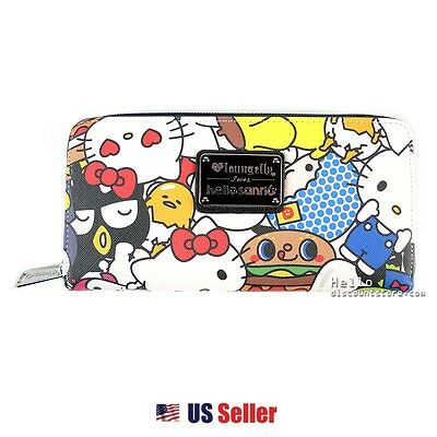 Loungefly x Hello Sanrio Town Friends Print Faux-Leather Zippered Long Wallet