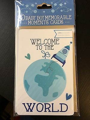 30 Baby Boy Memorable Moments Milestone Photo Picture Cards Baby Shower Gift