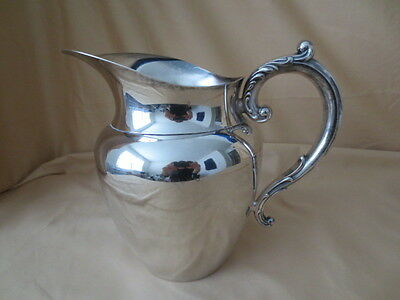 Vintage Wm A Rogers Silver Plate Water Pitcher