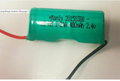 2.4v Pager Battery for LRS Long Range Systems Starpager MH400AAT2AN