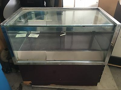 Used Glass Display Case With Drawers