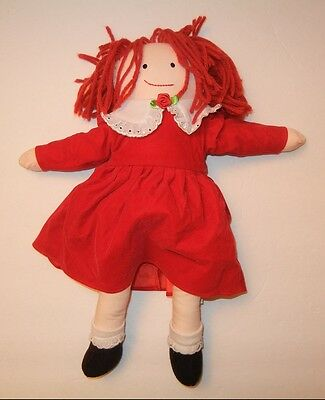 "Eden 14"" 1994/1997 Removeable Red Dress Red Hair Madeline Plush Doll NEAR MINT"