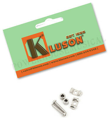 Kluson Vintage String Tree Guides For Fender Strat Guitar Chrome Set Of 2 *new*