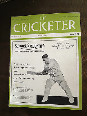 4 Aug 1951 The Cricketer Magazine - The Lessons Of Cricket History