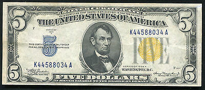 Fr. 2307 1934-A $5 Five Dollars North Africa Silver Certificate Extremely Fine