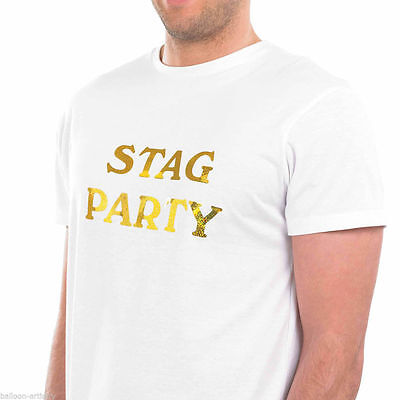 Iron On  Stag Night Transfer ( Gold) Hen Night