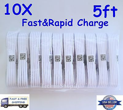 10X OEM Rapid Charge Micro USB Cable Fast Charging Cord For Samsung Android