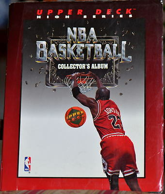 NBA BASKETBALL COLLECTOR's ALBUM 1993 - with #249 CARDS & #5 Holograms - GREAT