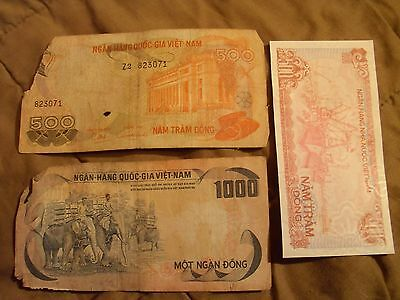 3 Banknotes From Vietnam Lot #1