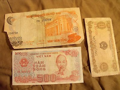 3 Banknotes From Vietnam Lot #2