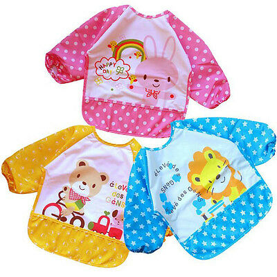 Waterproof Bibs Baby Kids Feeding Clothes Cute Overclothes Hot Durable