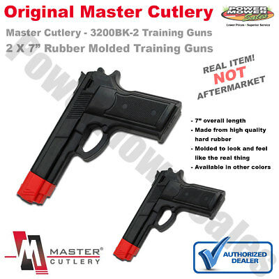 "Black 7"" Rubber Training Gun, Police Dummy, Non Firing, Real Look & Feel (2 PK)"