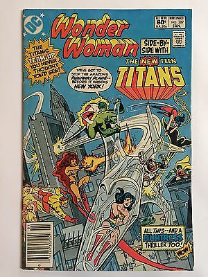 """WONDER WOMAN #287 (Jan 1982, DC Comics) """"SIDE BY SIDE WITH THE TEEN TITANS"""""""