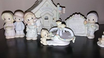 Precious Moments Sugar Town  Lighted Schoolhouse  6 pc SET -  mint in boxes