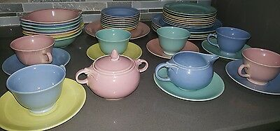 43pc TST Taylor Smith & Taylor LuRay Lu Ray Pastels, Dinner Plate, Bowls, Cups