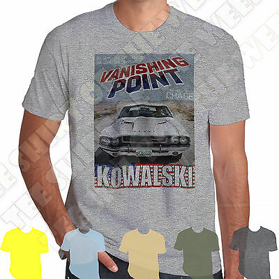 Vanishing Point Kowalski Dodge Challenger T-shirt 100% Cotton 7 cols to choose