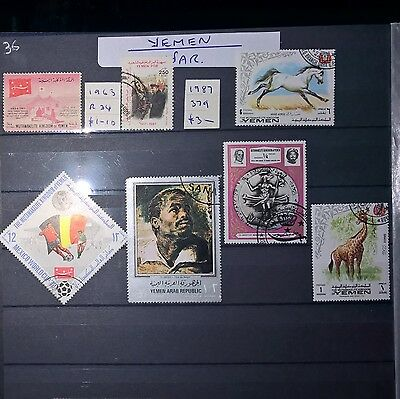 YEMEN Mixed Selected Stamps (No 1254)