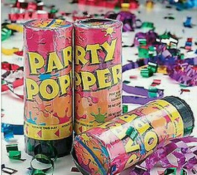 11 New Party Popper Canons》Spring Loaded Multicolor Confetti》Party Favors