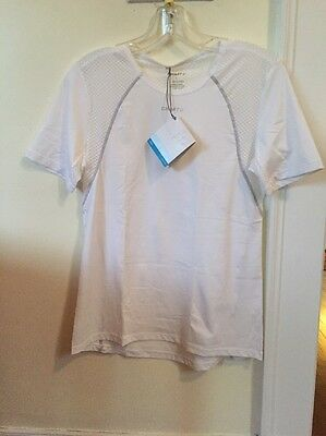 New Women's Craft Cooling Concept Baselayer Size Large White Short Sleeve