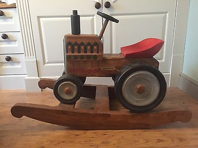 Wooden rocking horse tractor