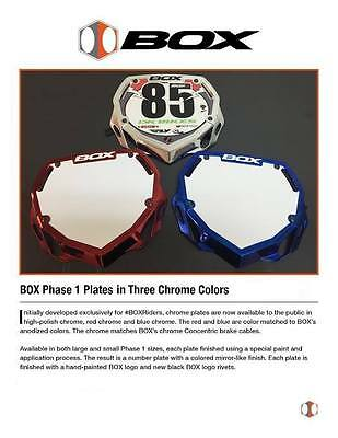 BOX Phase 1 Number Plates Chrome Colors Pick your Size and Color