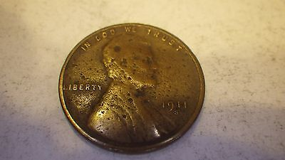 1911-S  Lincoln Cent   Nice Strong G - Vg